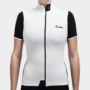 Signature Cycling Jersey Antique White / Jet black
