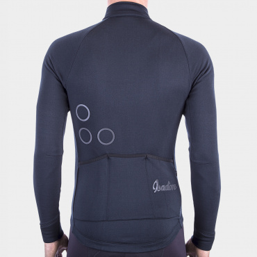TherMerino Radtrikot Anthracite Black